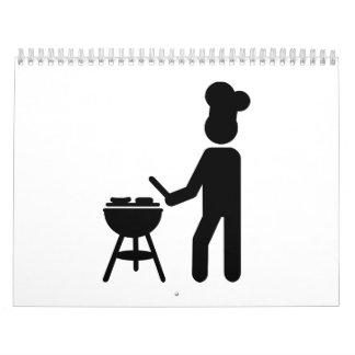 Cocinero del cocinero de la barbacoa del Bbq Calendario