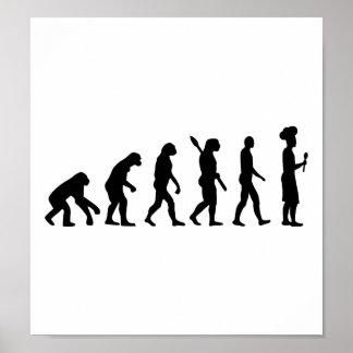 Cocinero del cocinero de la evolución póster