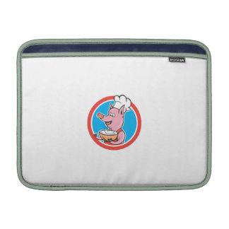Cocinero del cocinero del cerdo que lleva a cabo fundas MacBook