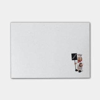Cocinero del cocinero - tarjeta AGRADABLE del menú Nota Post-it®