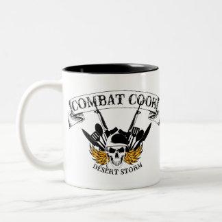 Cocinero del combate - tormenta de desierto taza de café