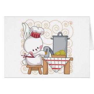 Cocinero del conejo tarjeta de felicitación