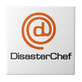 Cocinero del desastre tejas  ceramicas