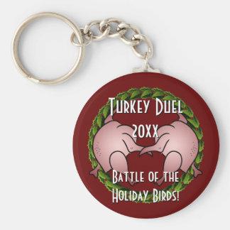 Cocinero del día de fiesta del duelo de Turquía ap Llavero Redondo Tipo Pin