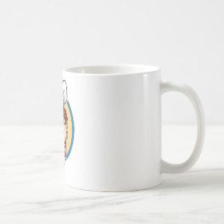 Cocinero del dibujo animado tazas de café