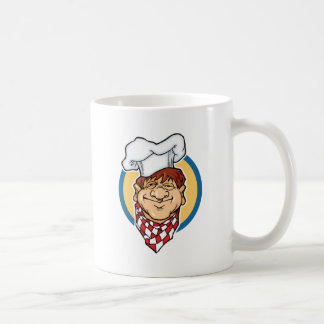 Cocinero del dibujo animado taza