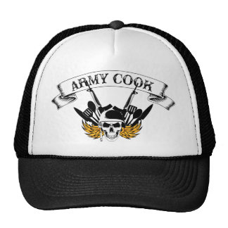 Cocinero del ejército gorros bordados
