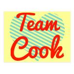 Cocinero del equipo tarjetas postales