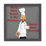 Cocinero del gatito caja de recuerdo de calidad