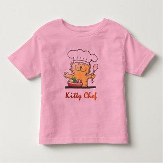 Cocinero del gatito playera de bebé