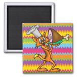 Cocinero del gato del dibujo animado imanes