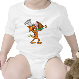 Cocinero del gato del dibujo animado trajes de bebé