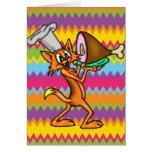 Cocinero del gato del dibujo animado tarjeton
