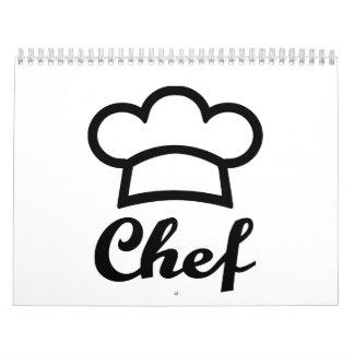 Cocinero del gorra del cocinero calendarios de pared