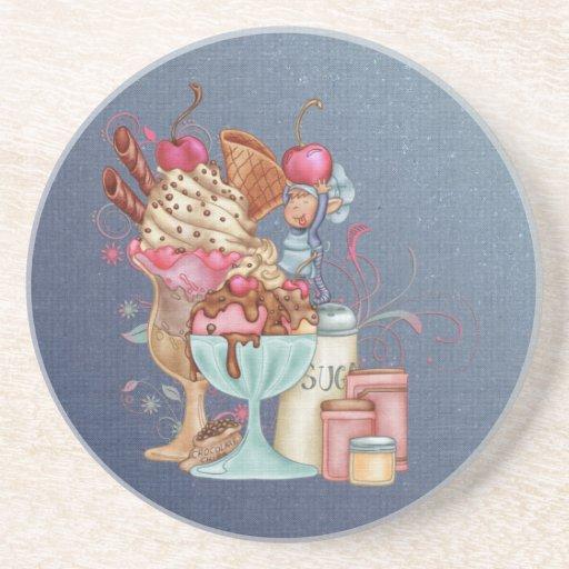 Cocinero del helado posavasos personalizados