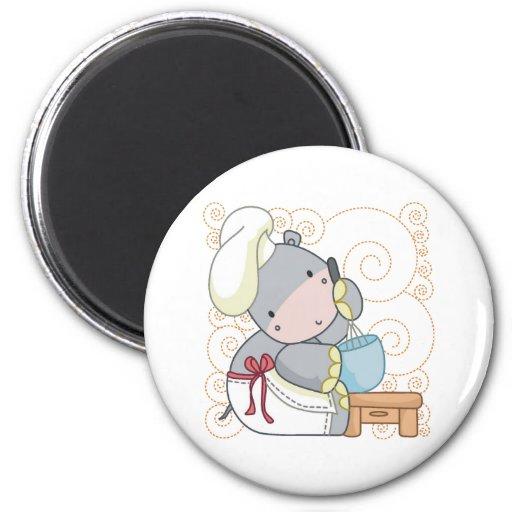 Cocinero del hipopótamo imanes
