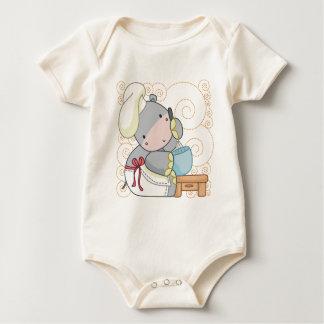 Cocinero del hipopótamo mamelucos de bebé