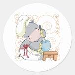 Cocinero del hipopótamo pegatina