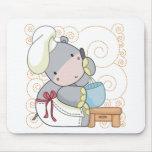 Cocinero del hipopótamo tapete de raton