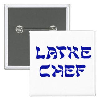 Cocinero del Latke Pin Cuadrado
