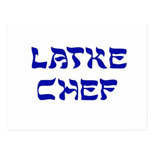 Cocinero del Latke Postal