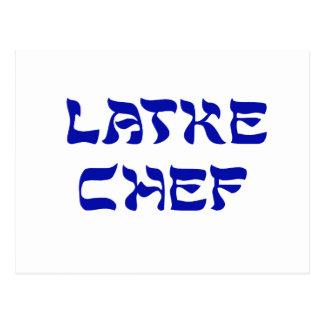 Cocinero del Latke Tarjetas Postales