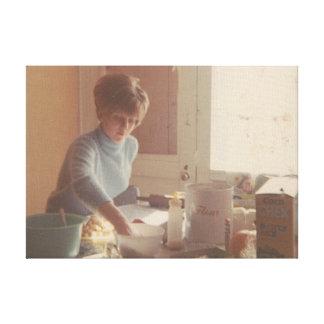 cocinero del momma impresión en lienzo