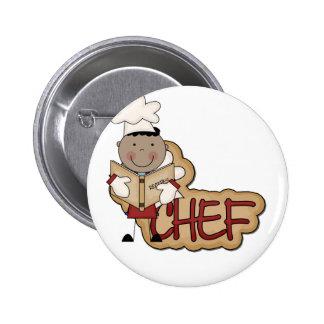 Cocinero del muchacho - camisetas afroamericanas y pin