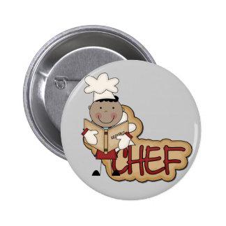 Cocinero del muchacho - camisetas afroamericanas y pins