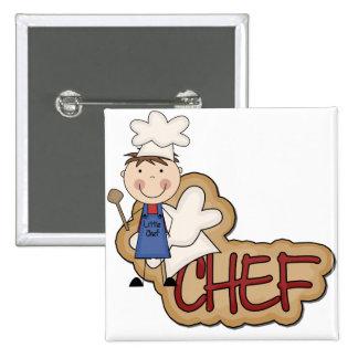 Cocinero del muchacho - camisetas y regalos blanco pin