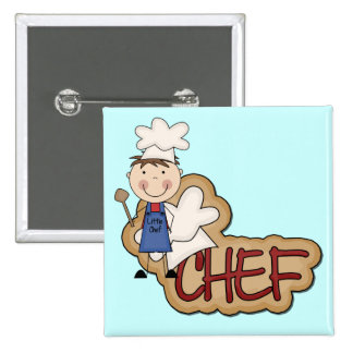 Cocinero del muchacho - camisetas y regalos blanco pins