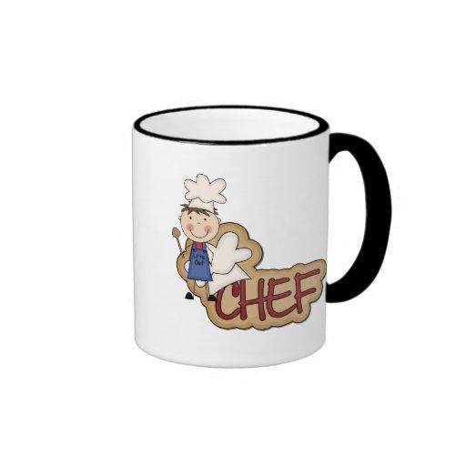 Cocinero del muchacho - camisetas y regalos blanco taza