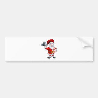 Cocinero del navidad de Santa que sostiene la Pegatina Para Auto