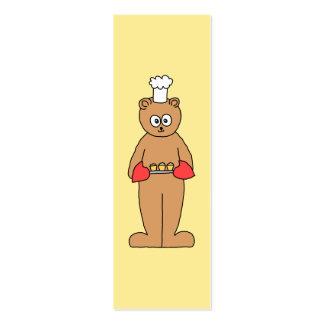 Cocinero del panadero con los Cupcakes. Tarjetas De Visita Mini
