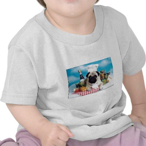 Cocinero del perro del barro amasado camisetas