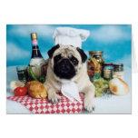Cocinero del perro del barro amasado tarjetas