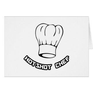 Cocinero del pez gordo tarjeta de felicitación