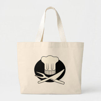 Cocinero del pirata bolsa tela grande