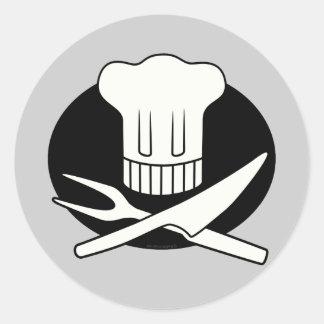 Cocinero del pirata pegatinas redondas