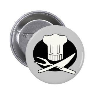 Cocinero del pirata pin redondo 5 cm