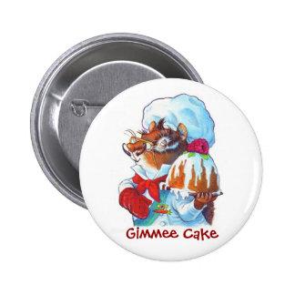 Cocinero del postre del Chipmunk Pin Redondo 5 Cm