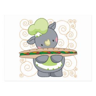 Cocinero del rinoceronte postal