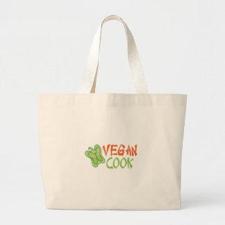 Cocinero del vegano bolsa tela grande