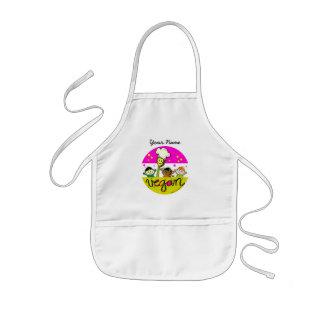 Cocinero del vegano: modifique el nombre de los delantal infantil