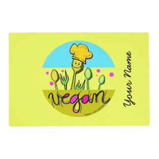 Cocinero del vegano: modifique el nombre de los salvamanteles