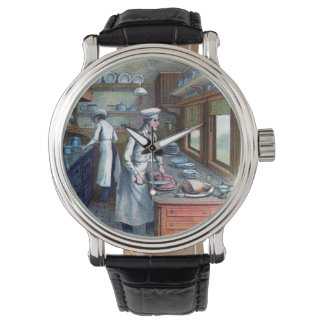 Cocinero del vintage - reloj del ejemplo del