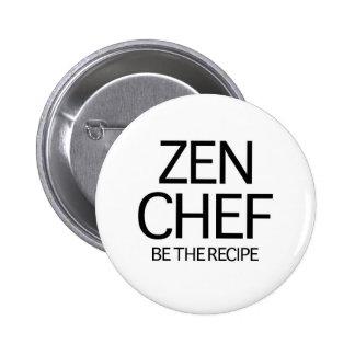 Cocinero del zen pin redondo de 2 pulgadas