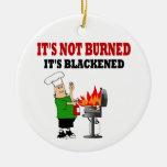 Cocinero divertido de la parrilla adornos de navidad