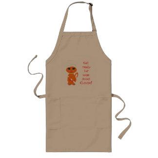 Cocinero divertido del asiático del delantal del g