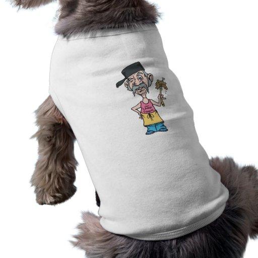 cocinero divertido del campo con slop del ruido de camisa de mascota